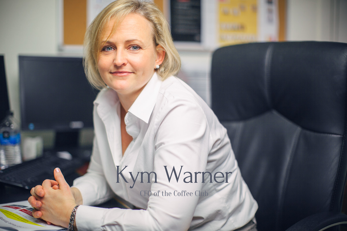 Kym Warner, CFO of the Coffee Club